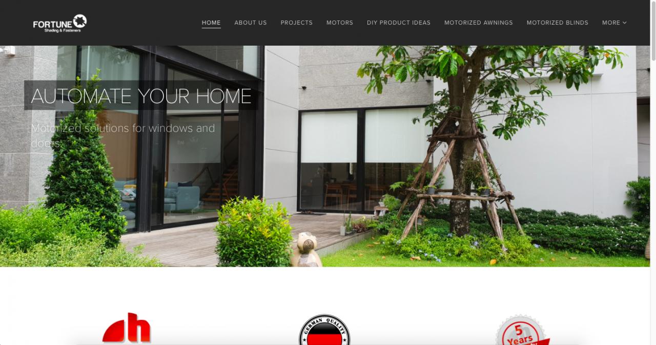 webnode site example screenshot