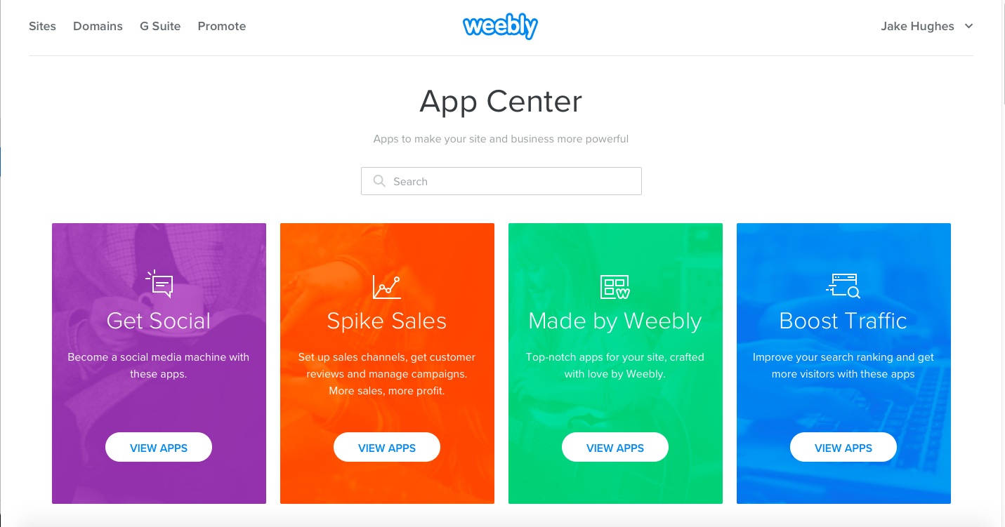weebly plans features