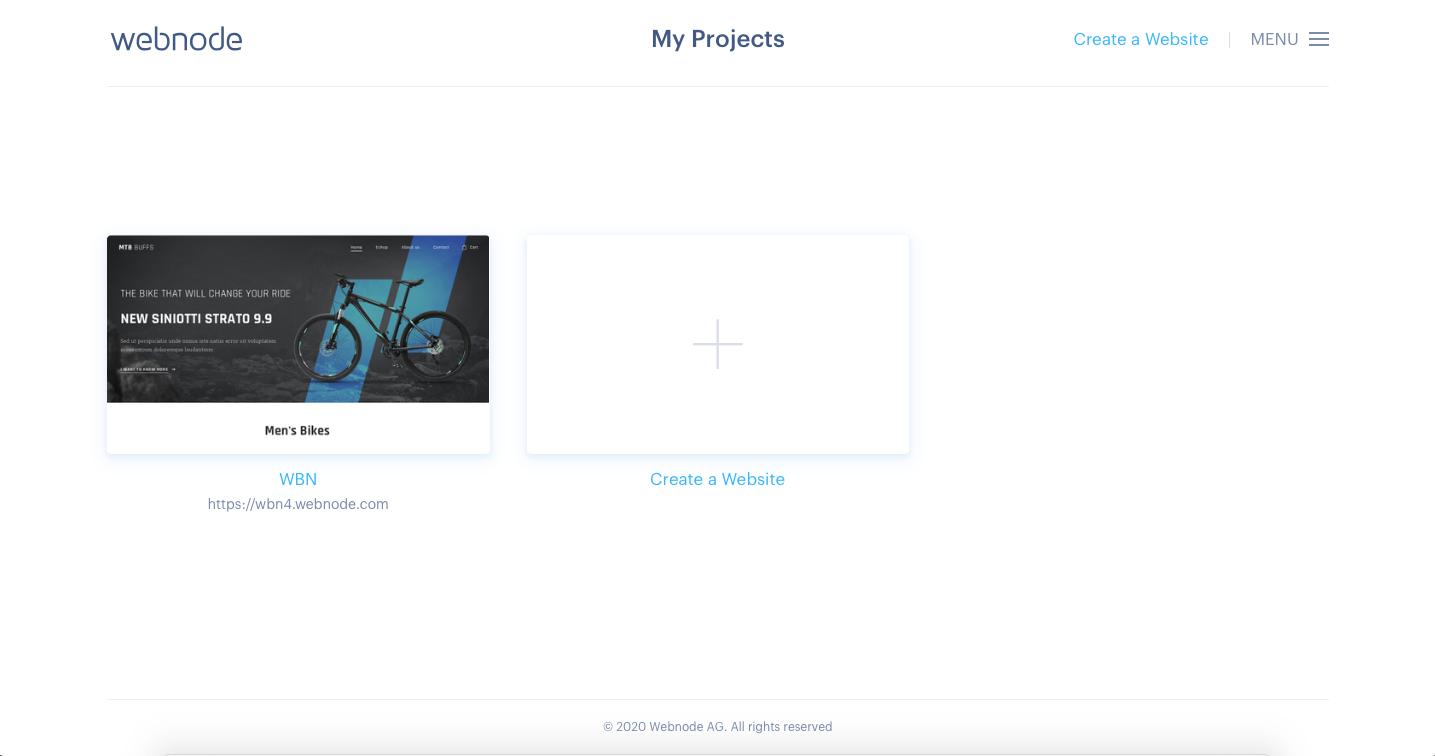 webnode template editor screenshot