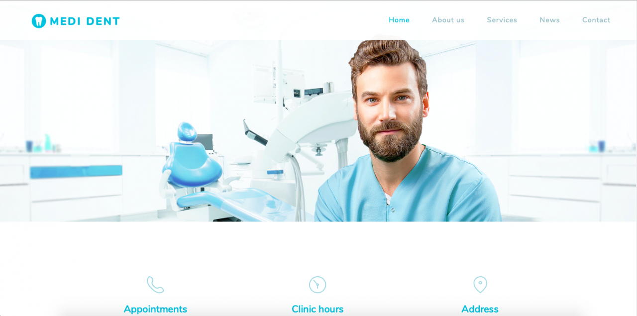 webnode template screenshot