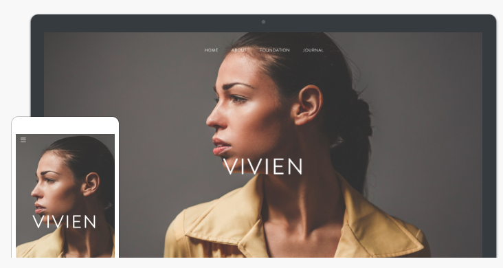 a preview of a Weebly website theme called Vivien