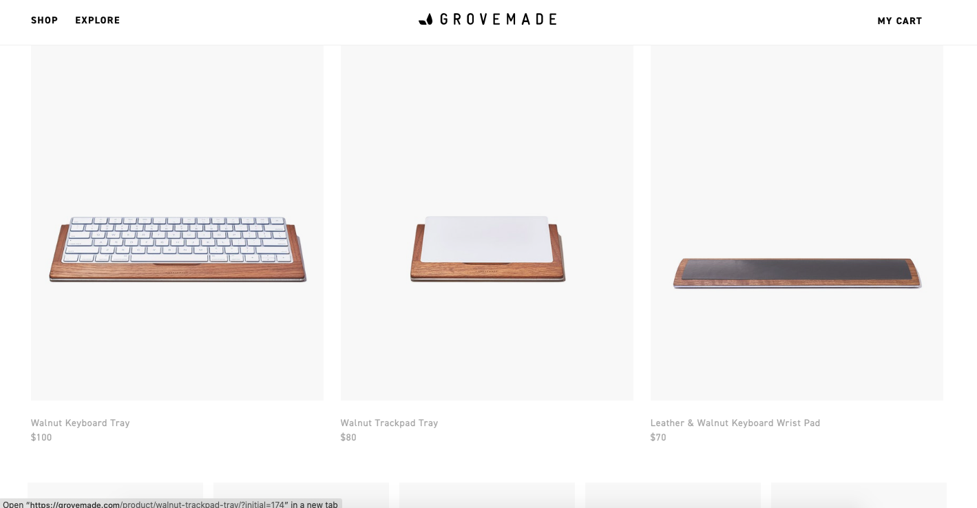 shopify ecommerce products examples