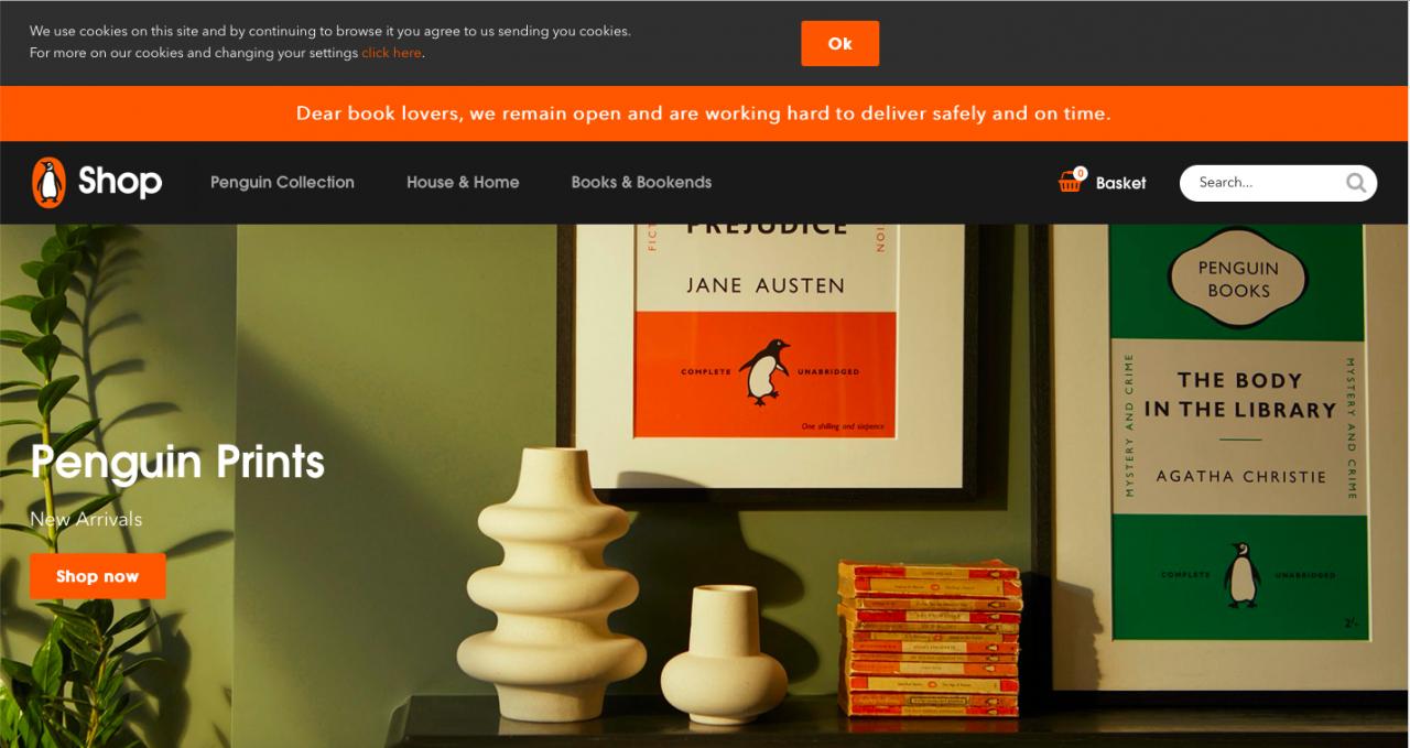 shopify example website screenshot