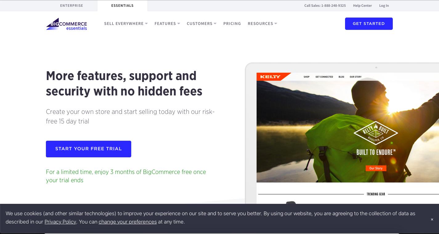bigcommerce store creating process screenshot