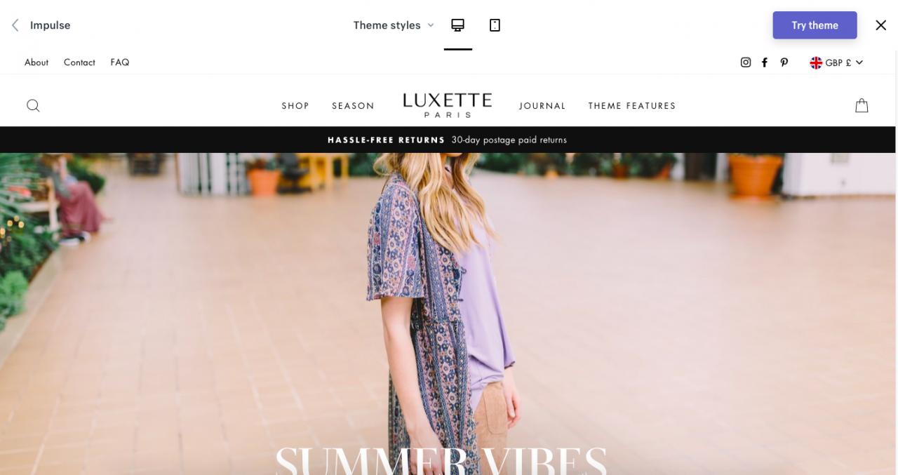 shopify template visual editor