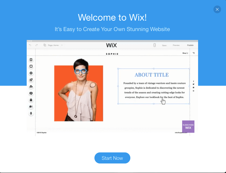 wix template editor