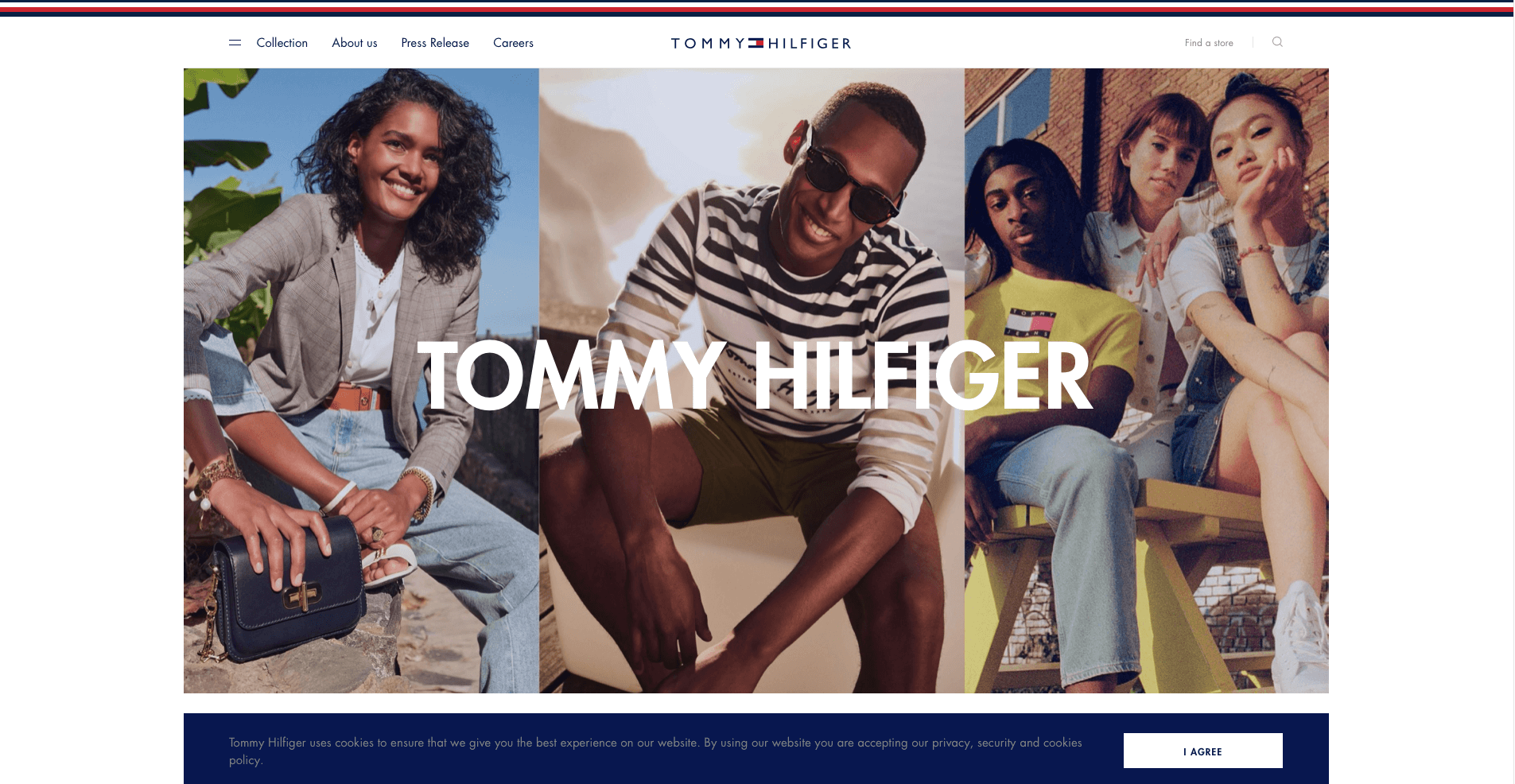 Tommy Hilfiger website