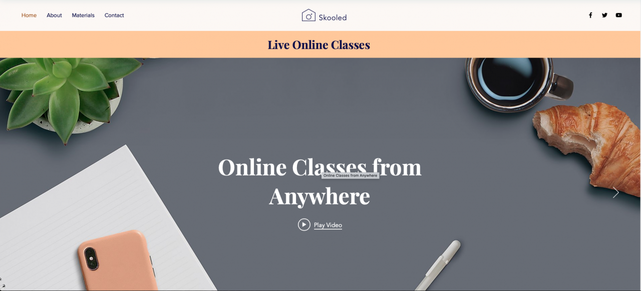 Six Skooled website template
