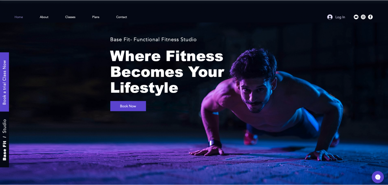 Six Functional Studio Template in desktop view
