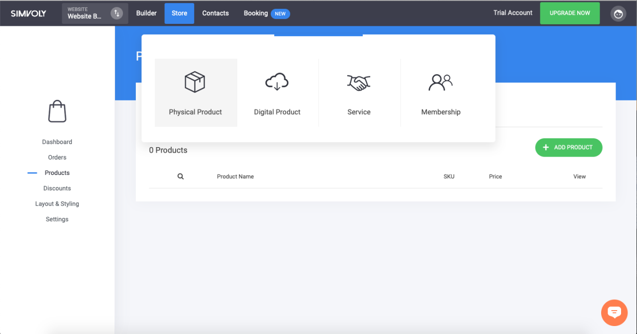 ecommerce site builder