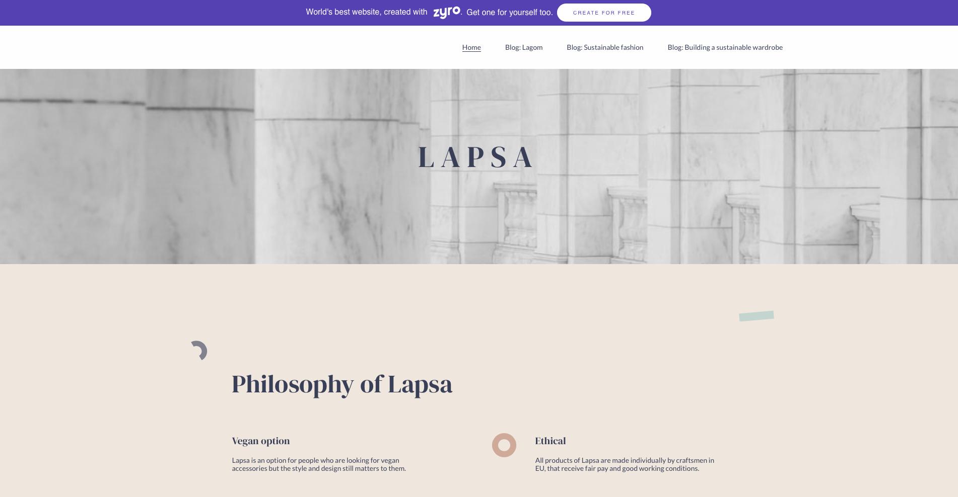 Zyro Example Website 1