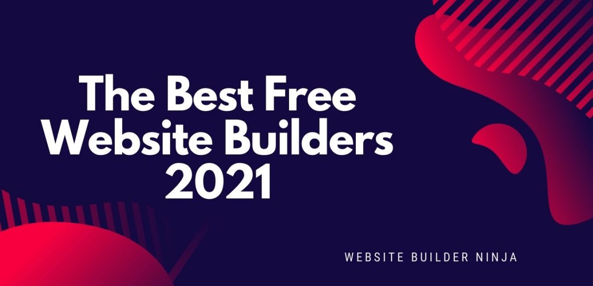 The best free website builders graphic