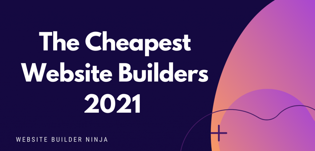 A graphical header image that says the cheapest website builders 2021