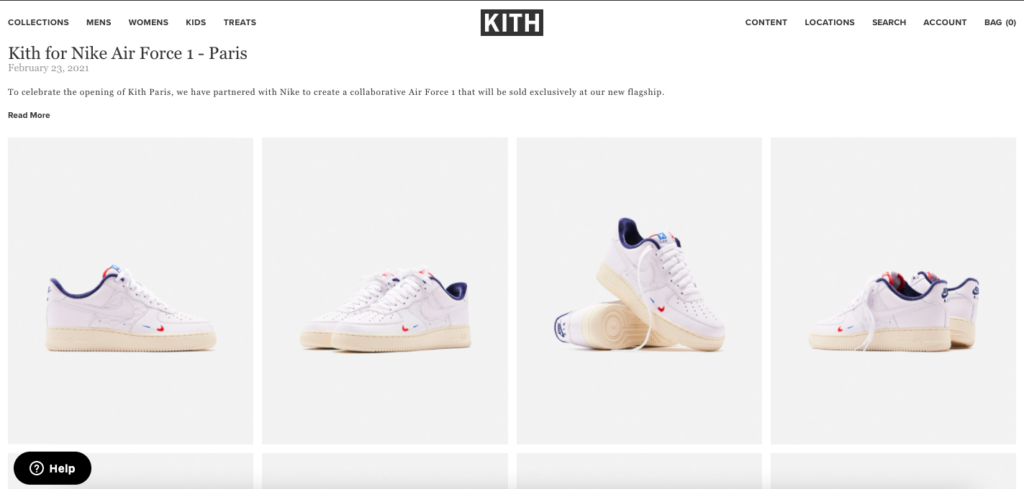 KITH collaborations with Nike AirForce