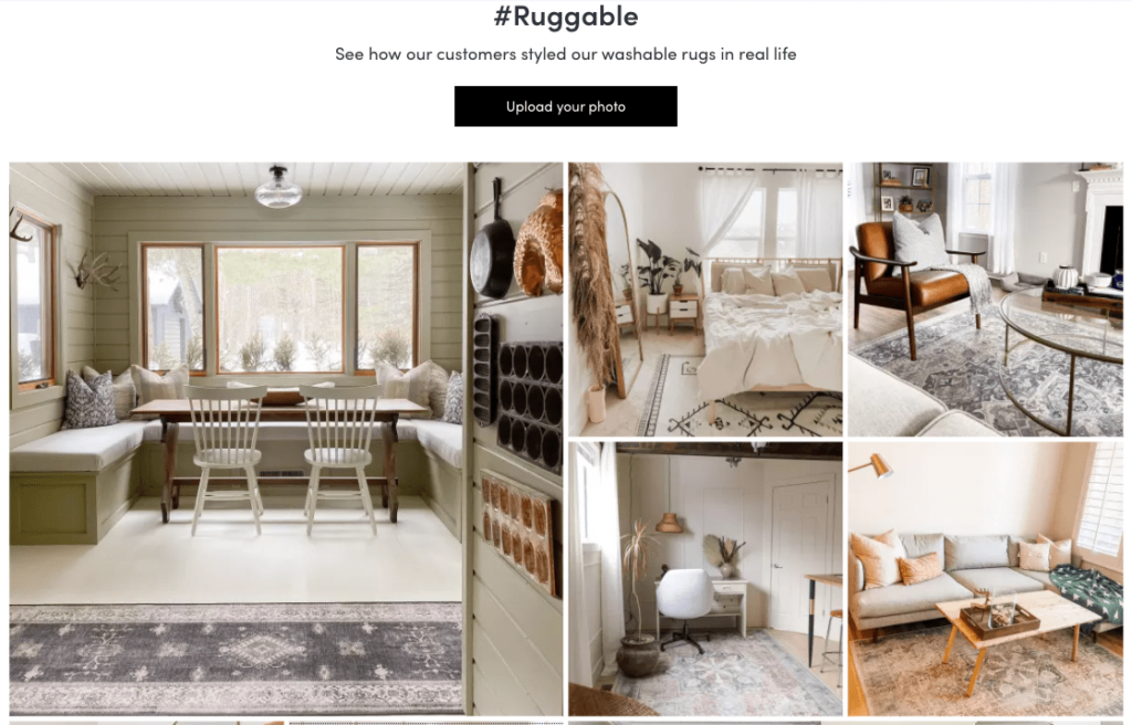 Ruggable user generated content